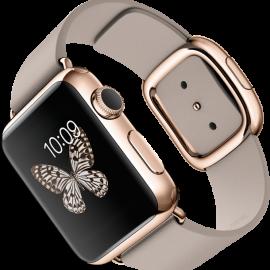 Apple Watch Edition (золотые, кожаный ремешок)