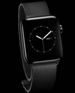 Apple Watch with Space Black Milanese Loop