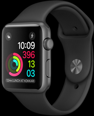 Apple Watch with Black Sport Band